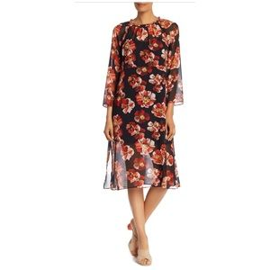 Madewell Floral Sheer Mid Dress